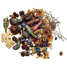 Loose Bead LOT earwires parts kit use as-is or mix match ~ Clay Wood Metal - $14.00