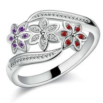 Best Quality Fashion Charm Classic Rings Elegant Women Silver Colorcryst... - $14.39