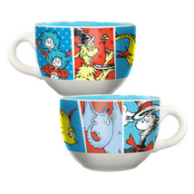 Dr. Seuss Characters Art Images Wrap-Around Design 20 oz Ceramic Soup Mu... - $12.59