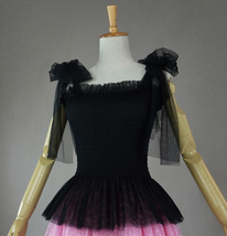 Women Tutu Top Sleeveless Pink White Party Top Tulle Topper Princess Tutu Outfit image 10