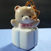 Vintage Japan Signed Russ Porcelain Honey Bear Present D11181 - $7.18