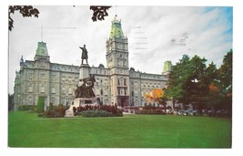 Quebec Canada Parliament Building Le Parlement Vntg S J Haywawrd Photo Postcard - $3.99