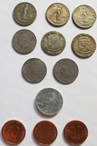 Lot of 12 Phillipine Ten Centavos Coins: 1960 - 2008 - $6.95