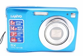 Sanyo VPC-S1415 BL 14MP 5 x Zoom Digital Camera- Blue  - $99.99