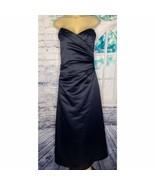 Mori Lee Navy Bridesmaid Formal Prom Opera Theater Strapless Dress Size ... - $40.00