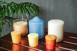 Candles Set of 6 One w Glass Candle Holder - $10.40