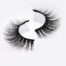 Handmade Wispy Real Mink Fur 3D Thick and Charming False Eyelashes Natur... - $18.64