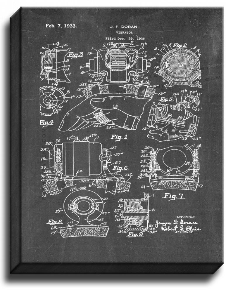 Primary image for Vibrator Patent Print Chalkboard on Canvas