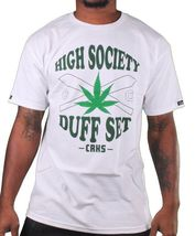 Crooks & Castles Black or White High Society Duff Marijuana Weed Joints T-Shirt image 4