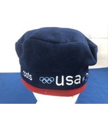 Roots USA 2002 US Olympic Team Roots Official Outfitter Hat Blue Red Adj... - $12.86