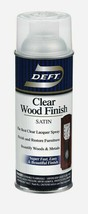 Deft SATIN Clear WOOD FINISH 11.5 oz Lacquer Spray Finish Restore DFT017... - $21.99