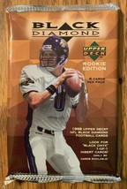 1998 Upper Deck Black Diamond Rookie Edition NFL Football Hobby Pack - $21.29