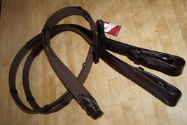 "Bobby's Tack 56"" x 7/8"" FULL Sz DARK BROWN Web w/Stops - Hook Ends - $62.00"