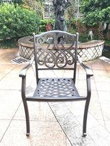 9 piece outdoor dining set Rubaiyat Expandable Table cast aluminum furniture. image 3