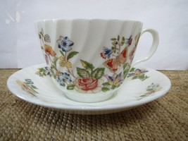 AYNSLEY - CUP AND SAUCER - COTTAGE GARDEN - MADE IN ENGLAND - $28.00