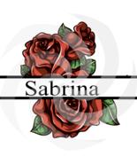 Flower Split Monogram Sabrina 101smp-Digital Clipart-Gift Cards-PNG-Banner - $1.99