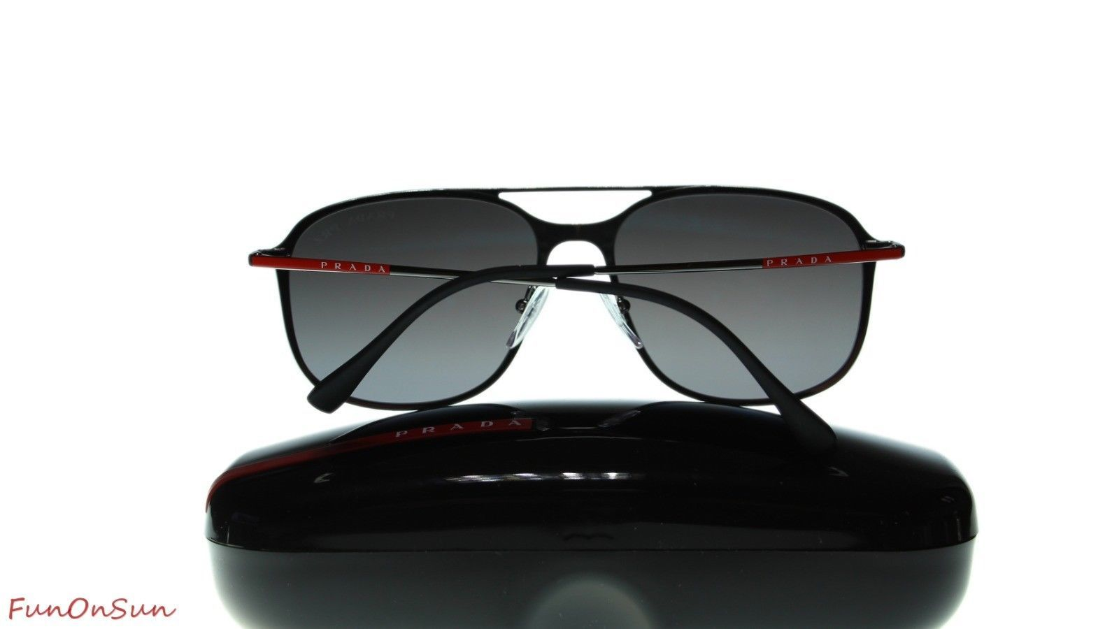 Prada Men  PS53TS 7CQ2F2 Matte Gunmetal/Polar Grey Mirror Silver Polarized Lens  image 4