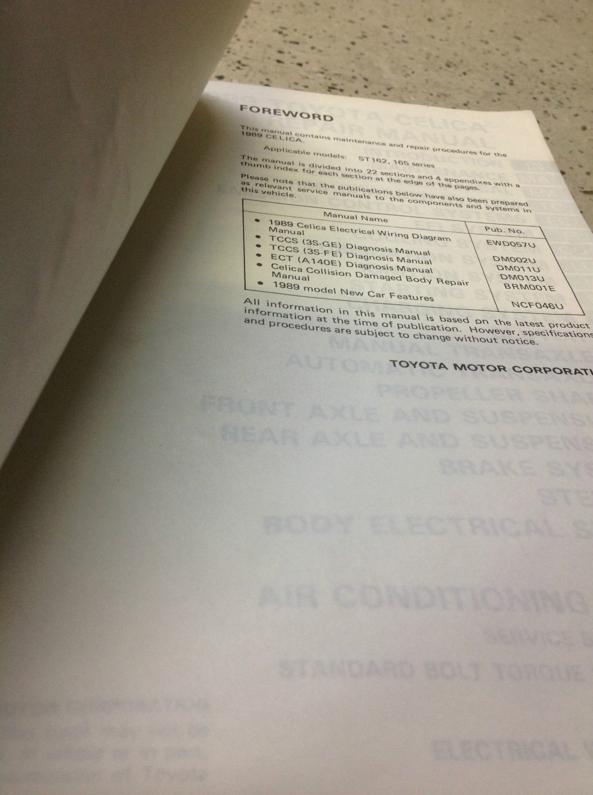 1989 Toyota Celica Service Repair Shop And 38 Similar Items Wiring Diagram Workshop Manual Set W Ewd Diagnosis Bk