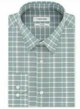 Calvin Klein Men's Green STEEL+ Regular Fit Stretch Non-Iron Check Dress Shirt image 1