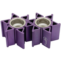 Judaica Portable Travel Candle Holders Candlesticks Shabbat Purple Magen David