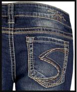 New SILVER Jeans Sale Buckle Low Rise Frances Stretch Jean Denim Shorts 26 - $19.97+