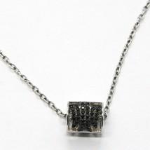 Silberkette 925, Schlauch Engel, Zirkonia Schwarze, Roberto Giannotti, Man - $118.74