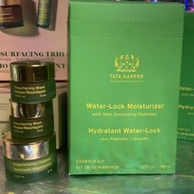 NIB Tata Harper Water Lock Moisturizer Regenerative Cleanser & Resurfacing Mask