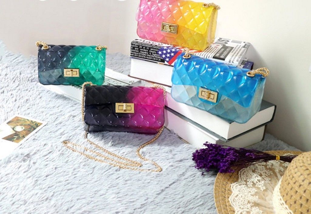 Luxury New 2018 Jelly Handbag Summer Messenger Bag Fashion Candy Clear Crossbody