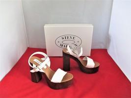 Steve Madden Women's Laurisa Wood Platform Sandals $99 White - US Size 6 M - $49.99