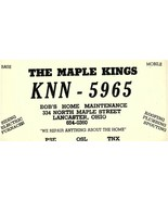 Vintage QSL Postcard  KNN 5965  Lancaster, Ohio  Bob King  -T- - $22.05