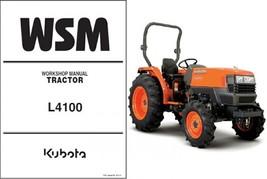 Kubota L4100 / L4100HST Tractor WSM Service Workshop Manual CD -- L 4100... - $12.00