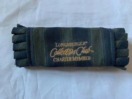Longaberger Basket Fabric Handle Grip Collectors Club Charter Member Blue Green - $13.09