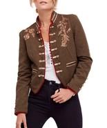 FREE PEOPLE Lauren Band Jacket in Moss XSmall - $110.87