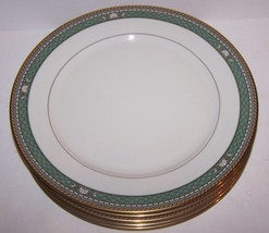 "Lovely Set Of 5 Mikasa Fine China Baskara L3208 Isle Jade 10 3/4"" Dinner Plates - $91.07"