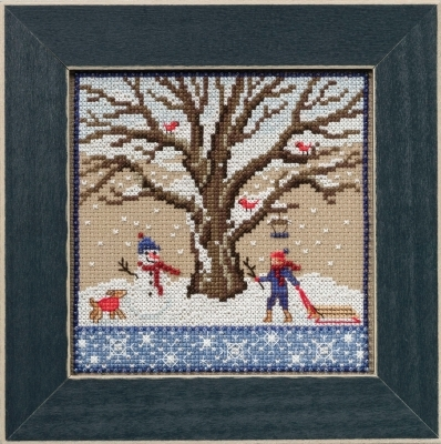 Winter Oak 2017 Quartet Mighty Oak tree series cross stitch kit  Mill Hill