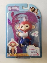 Fingerlings Glitter Monkey - Liberty Patriotic Rare - Finger Figurine - $25.73