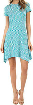 NEW MICHAEL KORS M SHORT SLEEVE SPACEDYE DRESS TILE BLUE TURQUOISE $160 - $39.19
