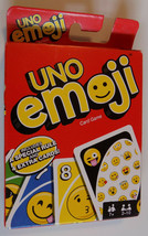 UNO Emoji Card Game Playing Cards Game For Family Friend Travel Instruct... - $5.87