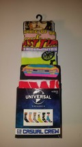 Jaws ET Universal Classic Movies Men's Casual Crew Socks 6 Pairs Shoe Si... - $23.95
