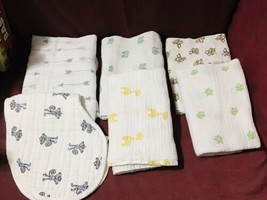 Aden + Anais Mixed Lot/5 Unisex Baby Cotton Muslin Swaddling Blankets + ... - $54.45