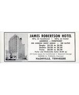 James Robertson Hotel Nashville Tennessee Rooms w Bath 1956 Travel Touri... - $10.99