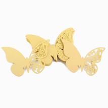 50 pièces Papillon précise découpé en LASER papier nom carte de place po... - $13.50 CAD