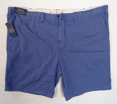 Polo Ralph Lauren Blue Classic Fit Flat Front Cotton Shorts Men's NWT - $86.24