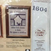 "God's Window Cross Stitch Kit Creative Circle #1604 5"" x 7"" - $8.79"