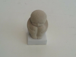 Child in fetal position Stone Art Marble Base Figurine  - $7.00