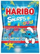 Haribo Gummi Candy, Sour Smurfs, 4 oz. Bag (Pack of 12) - $24.99
