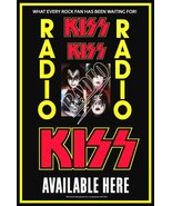 "KISS Band ""KISS RADIO"" 18 X 26 Custom Dealer Poster - Rock Concert Collectibles - $35.00"