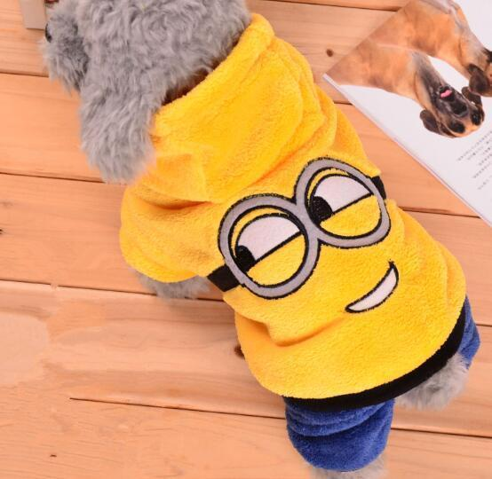 Funny Pet Dog Clothes Warm Fleece Costume Soft Puppy Coat Outfit For Dog or Cat