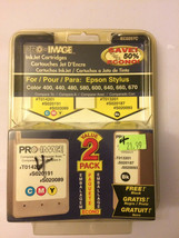 New Pro Image Inkjet Cartridges 2 pack Tricolor Black EC0257C for Epson ... - $16.83