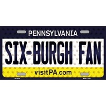 Steelers Pennsylvania State Background Novelty Metal License Plate Tag (... - $12.95